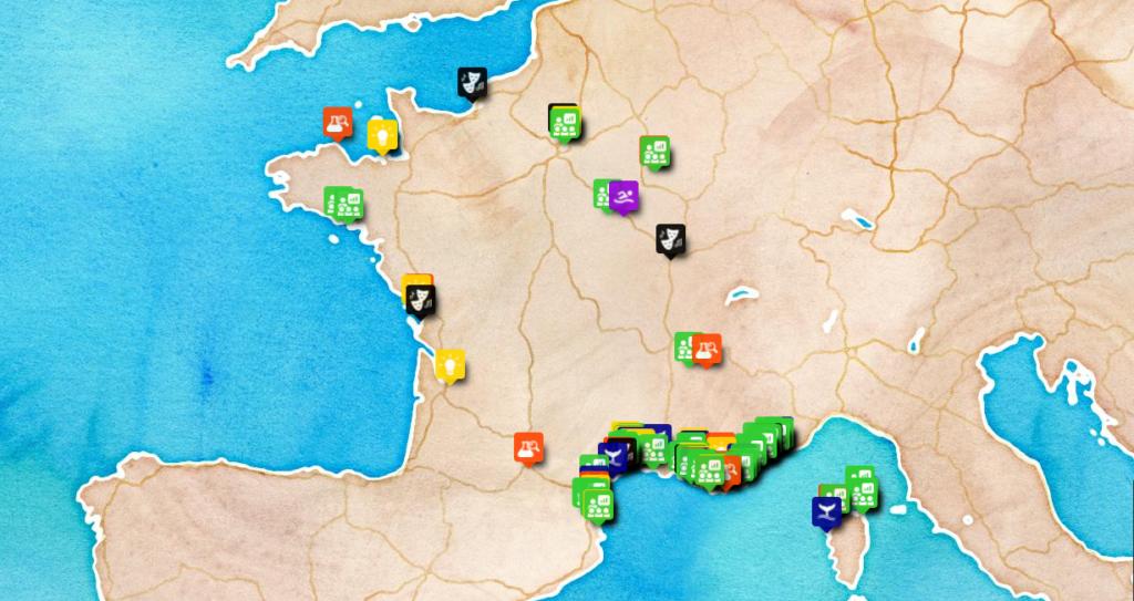 Carte des initiatives